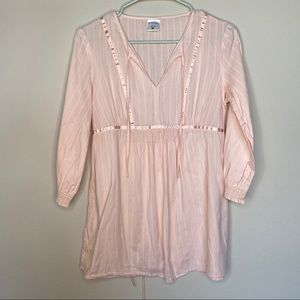 4/20$ Motherhood pink boho style maternity blouse